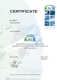 NGSICUREZZA.COM Certificazione Konnex